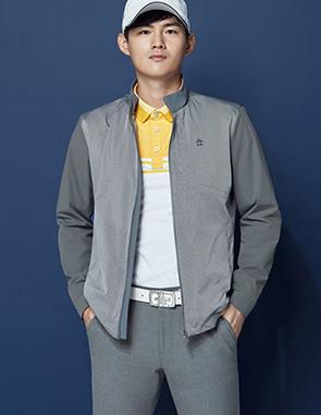 남성 컬러 블럭 긴팔티셔츠