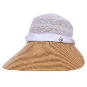 여성 천연초 와이드 챙 모자