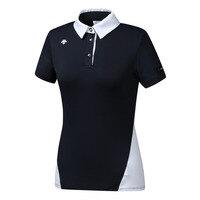 여성 허리배색 패턴 반팔 티셔츠