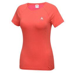 여성 화섬 패드내장 반팔 티셔츠