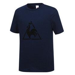 남녀공용 빅로고 면 반팔 티셔츠