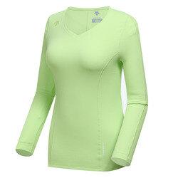 여성 스피리쳐 브이넥 긴팔 티셔츠