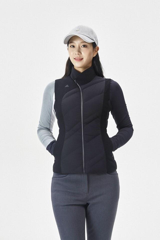 르꼬끄 골프(LECOQ GOLF) 여성 소재 믹스 레터링 캡 (G0322LCP91) (G0322LCP91)