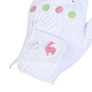 르꼬끄 골프(LECOQ GOLF) 여성 라이크라 스터드 장식 합피 컬러 장갑