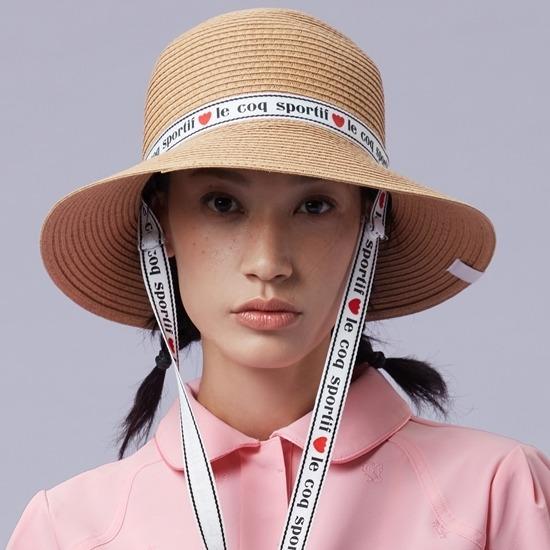 르꼬끄 골프(LECOQ GOLF) 여성 리본 포인트 천연초 버킷헷 (GM322LCP74)